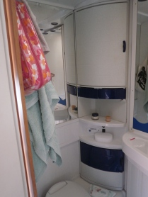 The bathroom/shower