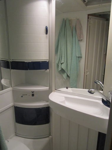 The spacious 'loo' and shower